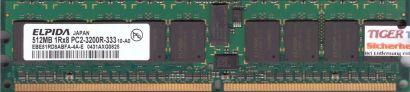 Elpida EBE51RD8ABFA-4A-E PC2-3200R 512MB DDR2 400MHz Server ECC Reg RAM* r601