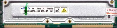 Samsung MR16R1628EG0-CM8 800-40 PC800 256MB 8 RDRAM 800MHz Rambus RIMM* r605
