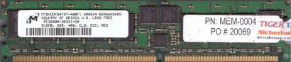 Micron MT9VDDF6472Y-40BF1 PC-3200R 512MB DDR1 400MHz Server ECC Reg RAM* r607