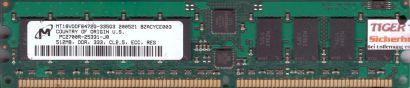 Micron MT18VDDF6472G-335G3 PC-2700R 512MB DDR1 333MHz Server ECC Reg RAM* r608
