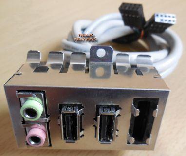 HP Audio Front Connect Panell mit 2x USB und Leerplatz * pz461