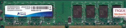 ADATA AD2800002GOU M2OAD6H3J41K0Q1E53 ADVQE1B16 PC2-6400 2GB DDR2 800MHz* r609