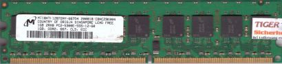 Micron MT18HTF12872AY-667D4 PC2-5300E 1GB DDR2 667MHz HP 384705-051 RAM* r614