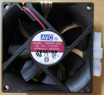 AVC F8025R12EB Molex Gehäuselüfter Lüfter PC Computer* GL95