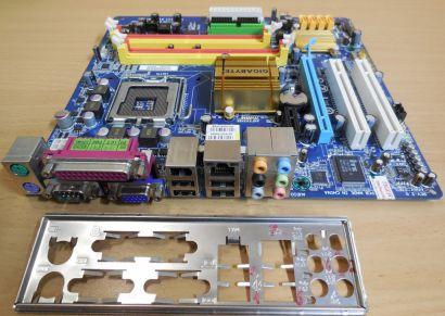 Gigabyte GA-EG31MF-S2 Rev2.0 Mainboard +Blende Sockel 775 DDR2 PCIe VGA LAN*m859