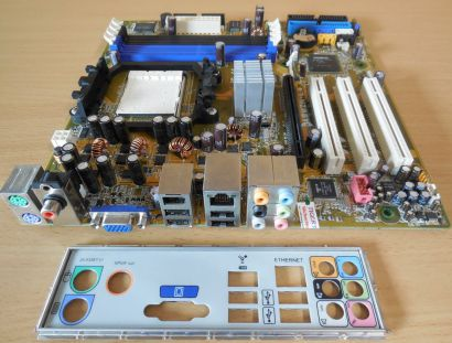Asus A8M2N-LA Rev 1.06 Mainboard +Blende Sockel AM2 HP NodusM 5188-5622* m861