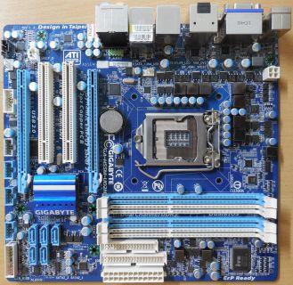 Gigabyte GA-H55M-UD2H Rev1.3 Mainboard +Blende Sockel 1156 HDMI DisplayPort*m862