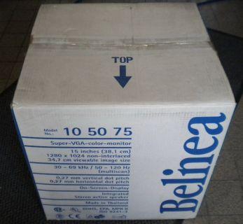 Belinea 10 50 75 15 Zoll CRT Super VGA Color Röhren Monitor Speaker OCD* mo04