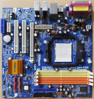 ASRock ALiveNF6G-DVI Rev 2.02 Mainboard +Blende Sockel AM2 VGA PCIe SATA2* m866