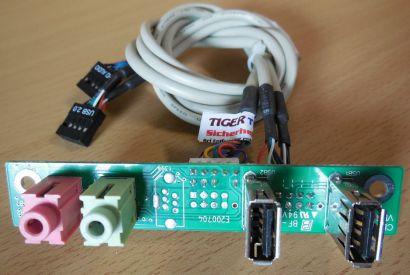 TERRA Chenbro CLKF485 Ver 1.1 80H021711-017 Frontpanel 2xUSB 2.0 Audio* pz484