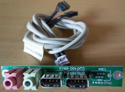 TERRA Chenbro CLKF450 Ver 1.5 80H021710-015 Frontpanel 2xUSB 2.0 Audio* pz485