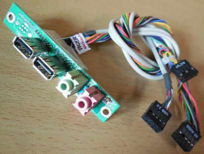 TERRA Chenbro CLKF450 Ver 1.4 80H021710-005 Frontpanel 2xUSB 2.0 Audio* pz486