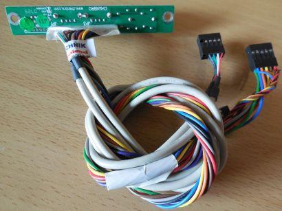 TERRA Chenbro CLKF450 Ver 1.4 80H021710 Frontpanel 2xUSB 2.0 Audio* pz486