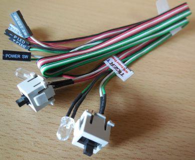 TERRA PC 26H011607-004 Power und Reset Schalter mit Power und HDD LEDs* pz487