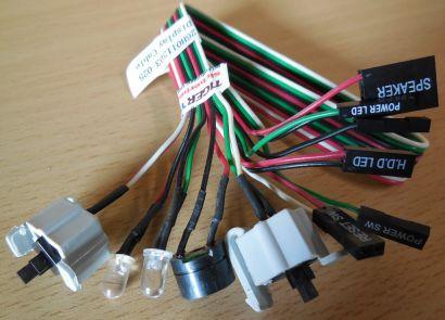 TERRA PC 26H011303-025 Power und Reset Schalter mit Power und HDD LEDs* pz488