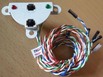 Power und Reset Schalter + Halterungen mit Power und HDD LED PC Computer* pz489