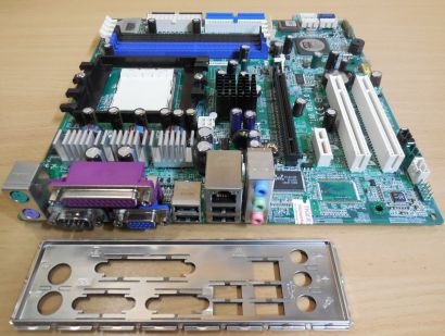 MSI MS-7168 Ver2.0 Mainboard+Blende AMD Sockel 939 PCIe DDR Powermate VL350*m873