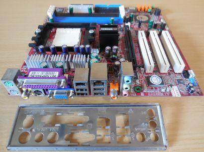 MSI MS-7093 Ver 1.0 RS480M2 Mainboard +Blende Sockel 939 PCIe DDR LAN VGA* m875
