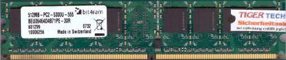 bit4ram BEU06464D4B71PE-30R PC2-5300 512MB DDR2 667MHz Arbeitsspeicher RAM* r624