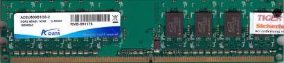 ADATA AD2U800B1G5-2 PC2-6400 1GB DDR2 800MHz CL5 Arbeitsspeicher RAM* r626