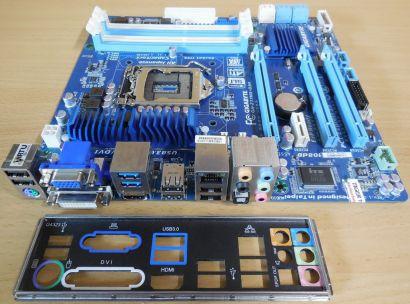 Gigabyte GA-Z77MX-D3H Rev 1.0 Mainboard +Blende Intel Z77 Sockel 1155 DDR3* m876