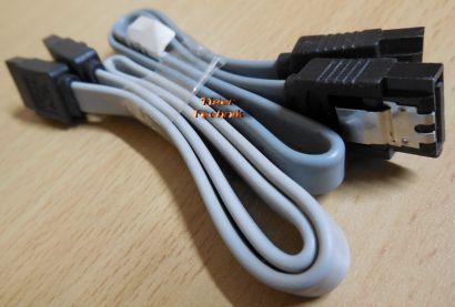 Fujitsu 2x T26139-Y3958-V202 SATA Laufwerk HDD Kabel Grau PC Computer* pz499