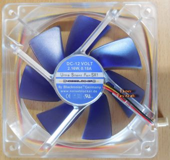 Blacknois Ultra Silent Fan SX1 Noisblocker CPU-Gehäuse Lüfter 120mm* GL101