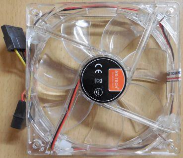 MS-Tech FAN Gehäuselüfter Kühler Lüfter 120mm 12V Cooling 4LEDs Computer* GL102