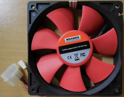 Xilence RED WING 120mm 12V DC Gehäuselüfter PC Computer* GL105