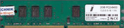 NoName PC2-6400 2GB DDR2 800MHz Arbeitsspeicher DDR2 RAM diverse Marken* r634