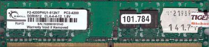 G.SKILL F2-4200PHU1-512NT PC2-4200 512MB DDR2 533MHz Arbeitsspeicher RAM* r635