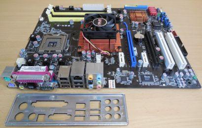Asus P5N-D Rev 1.02G Mainboard +Blende Sockel 775 nForce 750i SLI PCIe DDR2*m878