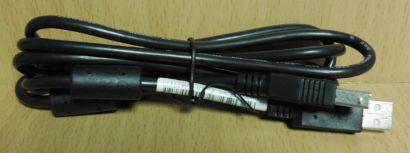 USB 2.0 Kabel schwarz 1,8m Typ A Stecker Typ B Stecker Drucker Scanner etc*pz709