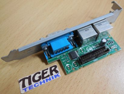 Dell 0F6VNT PS2 Mause Tastatur RS232 Seriell COM Port Anschluss Slotblende*pz504