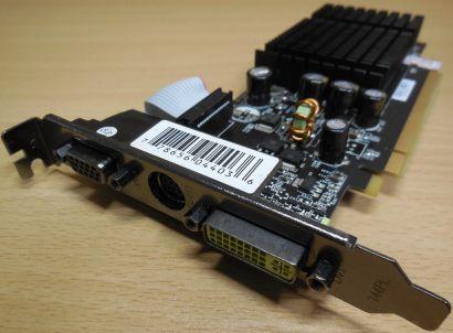XFX PVT72SWang GF 7200GS 256MB Board unterstützt 512MB DDR2 VGA DVI S-Video*g374