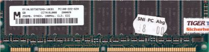 Micron MT18LSDT3272AG-10EB1 PC100 256MB 100MHz ECC Arbeitsspeicher SD RAM* r642