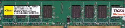 Elixir M2Y2G64TU8HD5B-AC PC2-6400U 2GB DDR2 800MHz Arbeitsspeicher RAM* r644