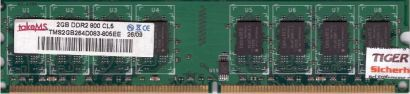 takeMS TMS2GB264D083-805EE PC2-6400 2GB DDR2 800MHz CL5 Arbeitsspeicher RAM*r646