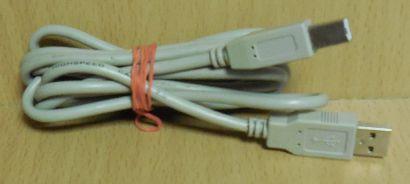 USB 2.0 Kabel grau 1,8m Typ A Stecker Typ B Stecker Drucker Scanner etc.* pz711