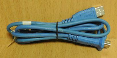 Wieson USB 2.0 Kabel blau 1,5m Typ A Stecker Typ B Stecker Drucker Scanner*pz712