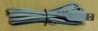 Sony USB Kabel grau 1,6m Typ A Stecker Typ Mini B Stecker für z.B. Kamera* pz718