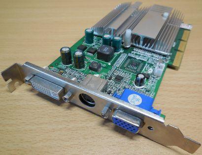 NVIDIA GeForce FX5200 128MB 64BIT AGP 8x wVGA TVOut DVI Grafikkarte* g378