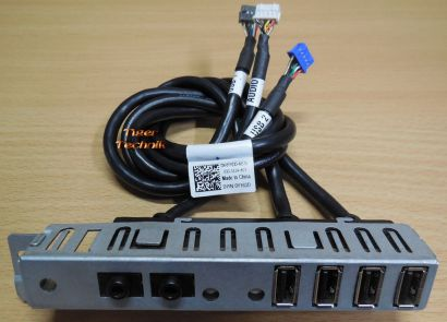 Dell Optiplex 960 Tower Y163D 4 port USB Audio Front Panel mit Kabel* pz509