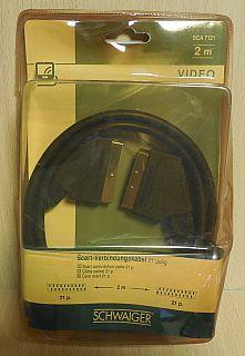 Schwaiger SCA7121 2m SCART Kabel für Video TV DVD 21-pol Verbindungskabel* so793