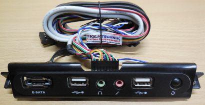 Cooler Master Front Panel USB eSATA Audio Reset für Gehäuse PC Computer* pz523