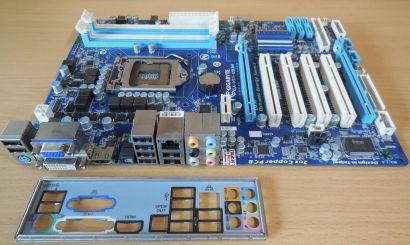 Gigabyte GA-H55-UD3H Rev1.0 Mainboard +Blende Sockel 1156 HDMI DDR3 PCIe* m886