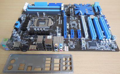 Asus P7P55D LE Rev1.01G Mainboard +Blende Intel P55 Sockel 1156 DDR3 GBLAN* m891