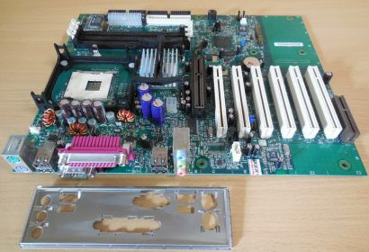 Intel D845WN Rev A64179 205 Mainboard +Blende Sockel 478 SD RAM AGP Audio* m894