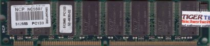 NCP NC5507 PC133 512MB SDRAM 133MHz Arbeitsspeicher SD RAM* r664
