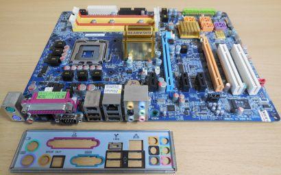 Gigabyte GA-965P-DS3P Rev3.3 Mainboard +Blende Sockel 775 DDR2 PCIe 8xSATA* m903